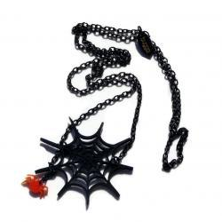 Halloween Jewelry,Spider Web Necklace,Lasercut Acrylic